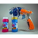 Haktoys 1700G Bubble Gun Transparent Shooter with LED Lights, 3 x AA Batteries, and Extra Bottle