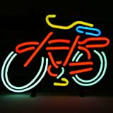 HOZER Professional BIKE PUB Design Decorate Neon Light Sign Store Display Beer Bar Sign Real Neon Signboard for Restaurant Convenience Store Bar Billiards Shops