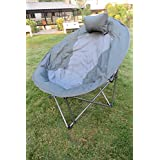 """Amaze"" Folding Camping Trekking Hiking Picnic Outdoor Portable Moon Chair With Carry Bag-GREY"