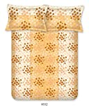 Bombay Dyeing Cardinal Cotton Double One bedsheet and Two Pillow cover Orange