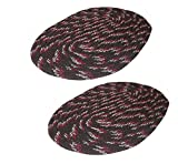 Online Quality Store Black oval doormats set of 2(16*24 inch,reversible)