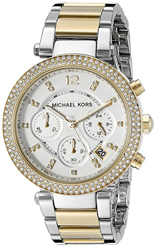 MICHAEL KORS PARKER TWO-TONE WOMEN'S DIAMONDS STAINLESS STEEL CASE UHR MK5626 thumbnail