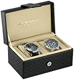 Akribos XXIV Men's AK740SSB Silver-Tone Watch Set