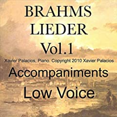 Brahms Lieder Vol. 1 (10 Favorites) Accompaniments for Low Voice with Transpositions