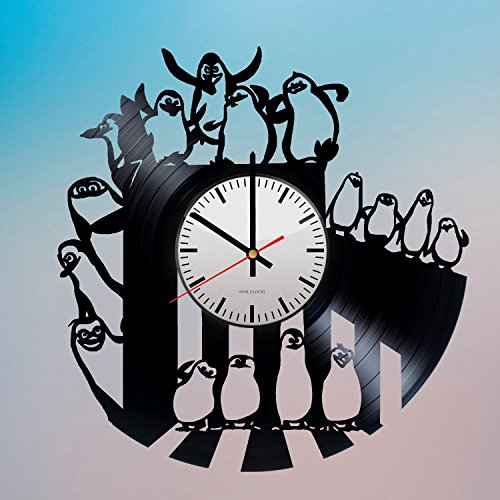 The-Penguins-of-Madagascar-HANDMADE-Vinyl-Record-Wall-Clock-Get-unique-room-wall-decor-Gift-ideas-for-his-and-her-DreamWorks-Animation-Unique-Art-Leave-us-a-feedback-and-win-your-custom-clock