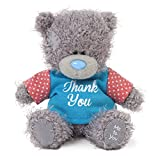 Me to You 4-inch Tatty Teddy Bear Wearing a Thank You T-Shirt (Grey)