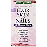 Nature's Bounty Hair Skin and Nails 5000 mcg of Biotin - 250 Coated Tablets Regular & Extra Strength (Extra Strength, Two Bottles each of 250 Softgels) by Nature's Bounty