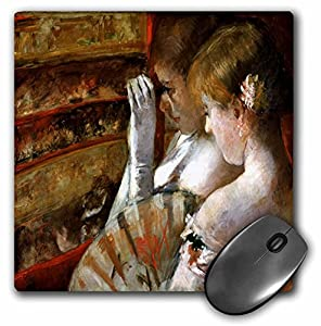 Florene Impressionism Art - Mary Cassatt Painting In The Box - MousePad (mp_61830_1)
