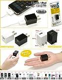 FILCO iPhone4/4S,iPod,iPhone,PSP,DS,DSLite,DSi対応 モバクルS 超小型USBモバイルACアダプタ(海外対応) ブラック PLS5SB
