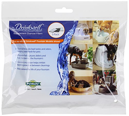 PetSafe Drinkwell Carbon Replacement Filters, 3 Filters per Pack (Pet Water Fountain Filters compare prices)