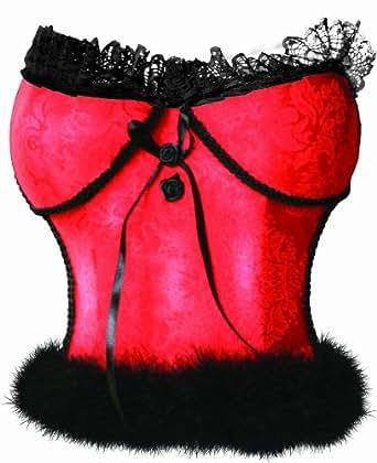 "Dekoleuchte Bustier"", rot, 25cm"