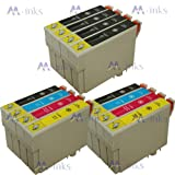 12 inks (2 Full Sets + 6 Extra Black) PRINTER INK CARTRIDGE COMPATIBLE FOR EPSON STYLUS B40W BX300F BX310FN BX600FW BX610FW D78 D92 D120 DX4000 DX4050 DX4400 DX4450 DX5000 DX5050 DX6000 DX6050 DX7000F DX7400 DX7450 DX8400 DX8450 DX9400F S20 S21 SX100 SX1