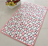 Luxbon Approx. 40*60cm Gloria Wholesales Color Pink Soft/Smooth/Flexible Carpet/Mat/Rug Floor/ Bedroom/Living Room/Bathroom/Kitchen/Area/Home Decoration