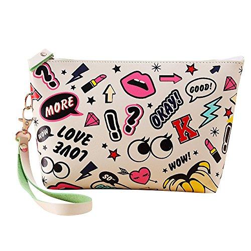 Contever® Fashion PU Sacchetto Lavata Cosmetic Borsa Cosmetico Wash Bagda Toilette Borsetta da Viaggio per le Donne la Signora Girl - Style 8