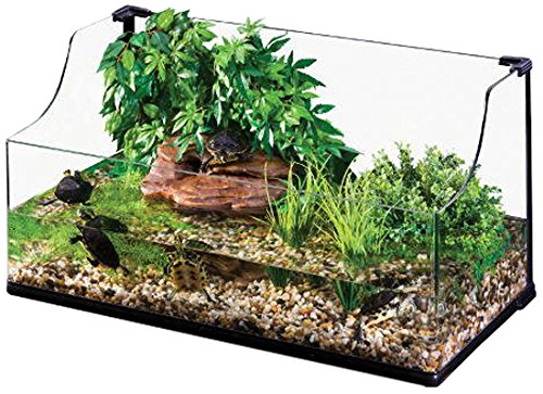 Exo Terra Bent Glass Turtle Terrarium, 24 by 18 by 12-Inch
