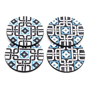 Flox 'Morocanmecrazy in Blue' Rubber Coasters