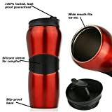 Swivgo Stainless Steel Insulated Travel Mug with Stainless Steel Tea Infuser Ball