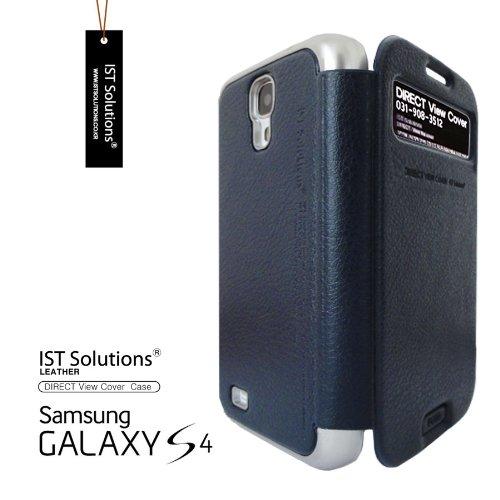 2点セット GALAXY S4 IST DIRECT S VIEW ダイアリー デザイン フリップ カバー ケース カード 収納機能 ( Suica Pasmo Edy ) ワンセグ対応 ワンセグアンテナ対応 ( docomo Galaxy S4 SC-04E / Samsung Galaxy S IV 2013年モデル 対応 ) Standing View Cover for Galaxy S4 i9500 ビュー ケース NTT ドコモ ギャラクシー エスフォー ケース  ドコモ カバー 衝撃保護 ジャケット Flip Cover Case + 液晶保護フィルム1枚 (プレゼント)  Stylish Navy ( 紺 紺色 ネイビー )  1306142