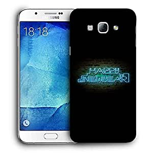 Snoogg Happy New Year Designer Protective Back Case Cover For SAMSUNG GALAXY A8