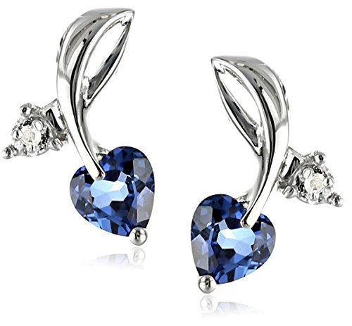 10k-White-Gold-Created-Gemstone-and-Diamond-Accent-Leaf-Heart-Earrings