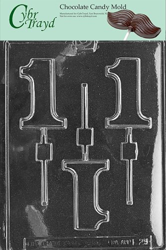 Comparamus Cybrtrayd L029 1 Lolly Chocolate Candy Mold