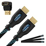 Twisted Veins (10 ft) High Speed HDMI Cable + Right Angle Adapter and Velcro