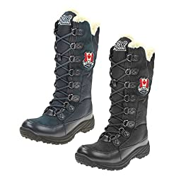 Pajar Women\'s Greenville Hi Winter Boots (37, Black)