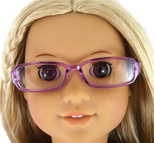 Purple Plastic Eyeglasses made for 18 inch American Girl Dolls (Dolls Made Of Glass compare prices)