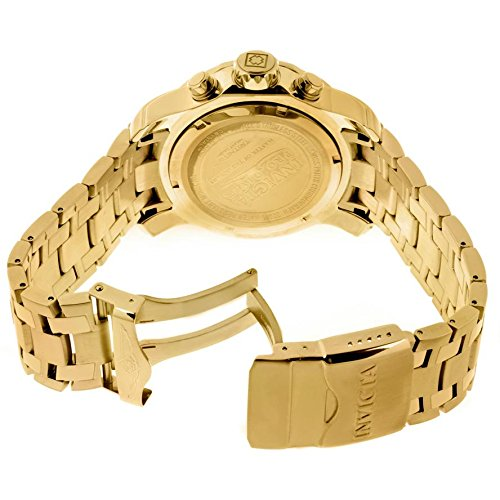 Invicta Men's Diver Analog Swiss Quartz 18k Gold-plated Stainless Steel Watch