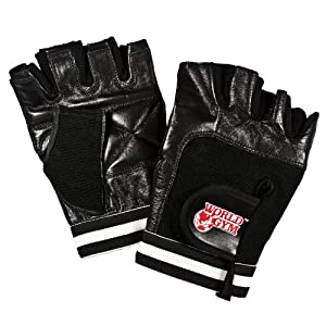 World Gym Men's Leather Training Gloves, Small