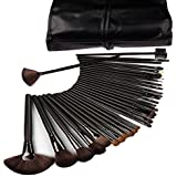 Domdo Professional Cosmetic Makeup Brush Set Kit with Synthetic Leather Case,black