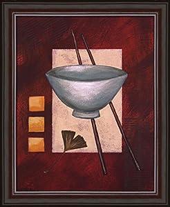 Oriental dining ii by rita vindedzis framed for Dining room wall art amazon