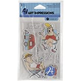 Hampton Art Hampton Art Impressions Clear Stamps, 4 x 8-Inch, His and Hers Campers