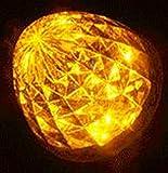 高輝度 16連 LED クリスタル 8面 カット トラック バス サイドマーカー ランプ 10個 セット 24V 車 専用 防水 加工 選べる カラー 色 (05: アンバー)