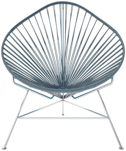 Innit Baby Acapulco Chair - Grey Weave/ Chrome Frame