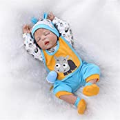 Sany Doll Reborn Baby Doll Soft Silicone Vinyl 22 Inch 55 Cm Lovely Lifelike Cute Baby Boy Girl Toy Sleep Doll