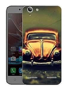 "Vintage Beetle Car Printed Designer Mobile Back Cover For ""Lenovo Vibe K5 - K5 Plus"" By Humor Gang (3D, Matte Finish, Premium Quality, Protective Snap On Slim Hard Phone Case, Multi Color)"