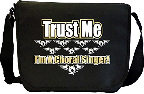 Vocalist Singing Trust Me Choral Singer - Sheet Music Document Bag Borsa Spartiti MusicaliTee