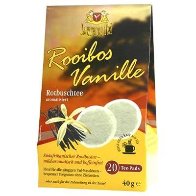 Lawrence Tea Rooibos-Vanille, aromatisierter Rooibostee, für Senseo Padmaschine, 20 Teepads von Lawrence Tea auf Gewürze Shop