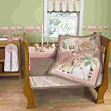 Step By Step Jungle Friends 4 Piece Crib Set, Pink