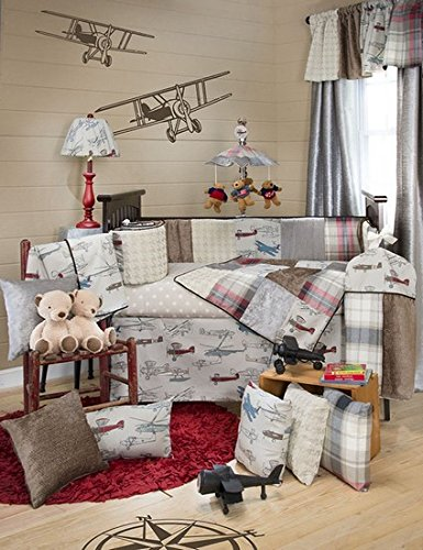 Glenna Jean Fly-By 3 Piece Set, Taupe/Grey/Blue/Brown/Red - 1