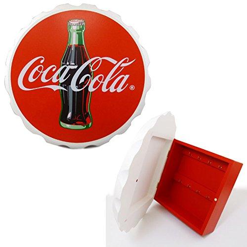 コカ コーラ クラウン型 ウッド キーボックス