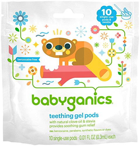 Babyganics Benzocaine Free Gel Teething Pods - .3 ml - 10 ct - 1