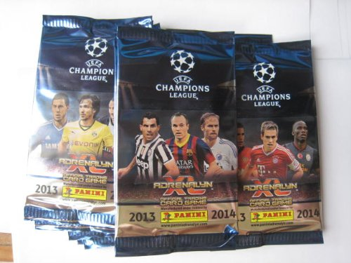 Panini UEFA Champions league 2013 / 2014 Adrenalyn XL Soccer Cards 10 Packs (2014 Champions League compare prices)