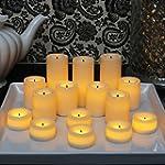 Candle Impressions Set of 15 Ivory Wa...