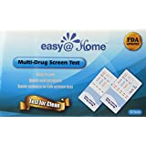 5, 10, 15, 25, 50 or 100 Pack #EDOAP-754 Easy@Home 5 Panel Instant Urine Drug Test - Marijuana (THC),Cocaine (COC),Opiate (OPI 2000),Benzodiazepines (BZO), Amphetamine (AMP) - Individually Wrapped 5 Panel Multi Screen Urine Drug Test Kit - 15 Tests