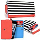 Women's Zip Wallet with Strap for Samsung I8190 Galaxy S III mini