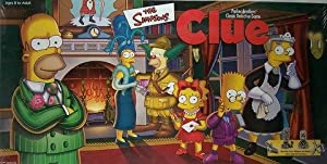 THE SIMPSONS CLUE Board Game 1st EDITION with Pewter Pieces from Parker Brothers, USAopoly
