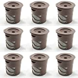 CASSICAT® 9 x Solo Coffee Pod Filters Compatible with Keurig K cup coffee system--Reusable Coffee Filter (Brown)