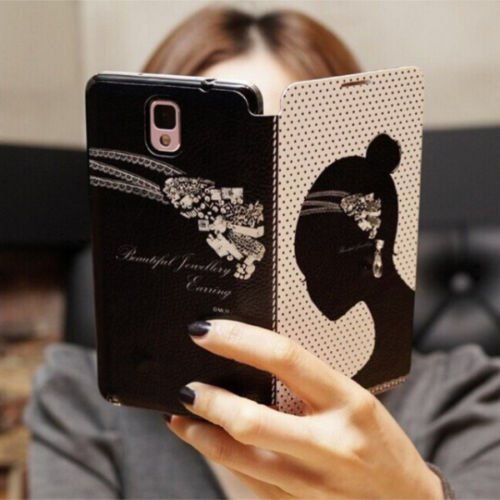 Girl Bling Fashion Wallet Diamond Flip Feature With Credit/Id Card Slots/Holder&Strap Pu Leather Case Cover For Smart Mobile Phones ( Lg Optimus L90 D410 D405 D415 )